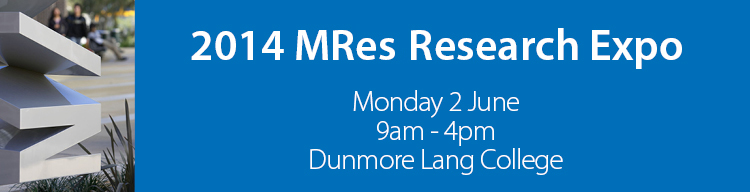 MRes Mini Research Expo banner