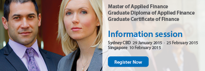Master of Applied Finance/ Graduate Diploma of Applied Finance/Graduate Certificate of Finance