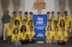 2011 Robotics team with Australian Consul General David Binns