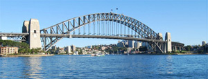 Sydney harbour bridge on a sunny day