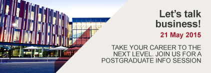 Take your career to the next level. Join us for a postgraduate info session.
